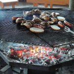 wiata - uruchomiony grill :)